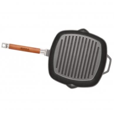 Сковорода-гриль (чугунная 260х260 со съемной ручкой), БИОЛ