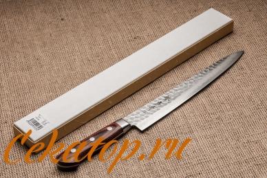 Нож для тонкой нарезки 240 мм Hammered 07230 Sakai Takayuki