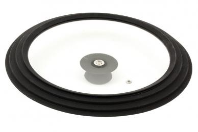 Крышка с силиконовым ободом 24-26-28 см (чёрная)