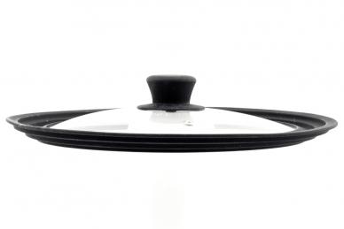 Крышка стеклянная 24-26-28 см (чёрная)