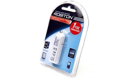 Автомобильный адаптер USB2100/Auto 2100мА, Robiton