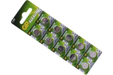 Батарейка часовая Alkaline cell 186-C10 AG12 BL10, GP