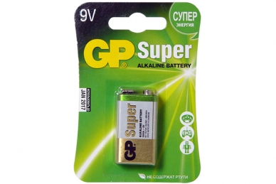 Батарейка крона Super 1604A-CR1 6LR61 BL1, GP Batteries