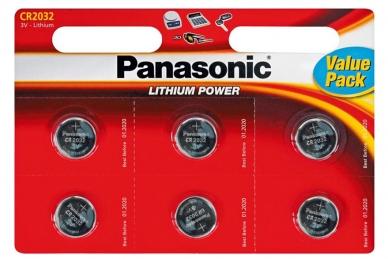 Батарейка Lithium Power CR-2032EL/6BP CR2032 (6 шт.), Panasonic, Япония