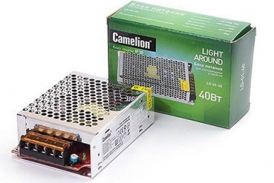 Блок питания для светодиодных лент LD-01-40 12V, IP20, Camelion