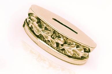 Больстер для рукояти ножа «Дубовые листья» 655 (латунь)