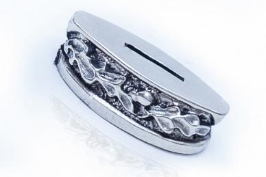 Больстер для рукояти ножа «Дубовые листья» 655 (мельхиор)