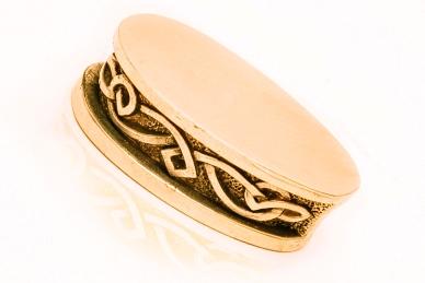 Больстер для рукояти ножа «Фантазийный орнамент» 649 (латунь)