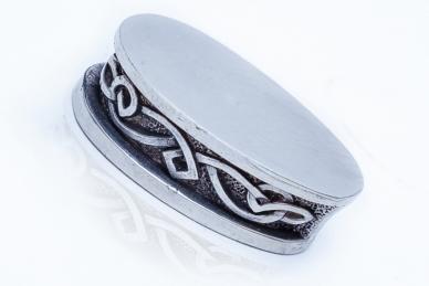 Больстер для рукояти ножа «Фантазийный орнамент» 649 (мельхиор)