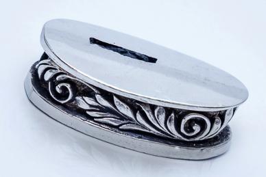 Больстер для рукояти ножа «Изогнутая ветвь» 631 (мельхиор)