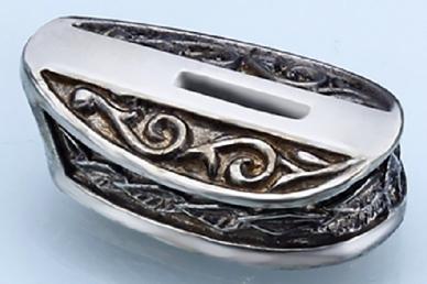 Больстер для рукояти ножа «Листья» 641 (мельхиор)