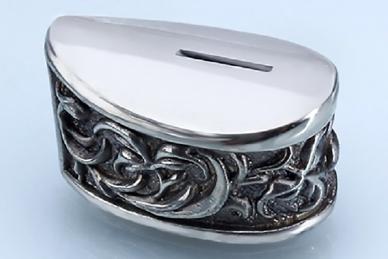 Больстер для рукояти ножа «Растительный орнамент» 632 (мельхиор)