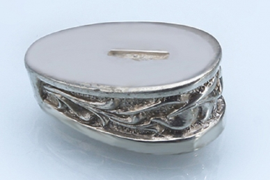 Больстер для рукояти ножа «Растительный орнамент» 648 (мельхиор)
