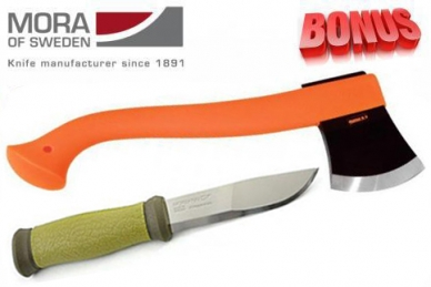 Бонус-пак: нож Mora 2000 и топор Mora Outdoor Camping Orange