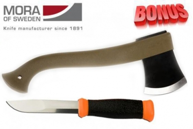 Бонус-пак: нож Mora 2000 Orange и топор Mora Outdoor Camping 1991