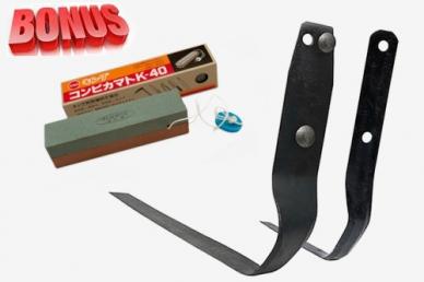 Плоскорез Фокина и японский двусторонний камень для заточки Matsunaga KWK-040