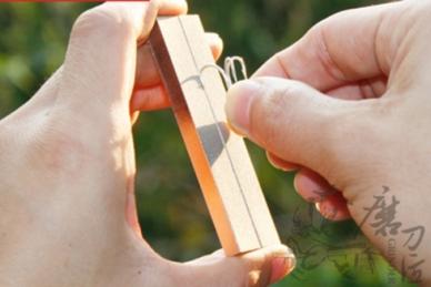 Брусок алмазный Diamond Outdoor Knife Sharpener Taidea. Заточка крючков