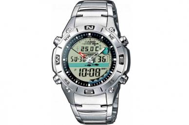 Часы наручные Casio Collection AMW-702D-7A,  корпус и браслет из стали
