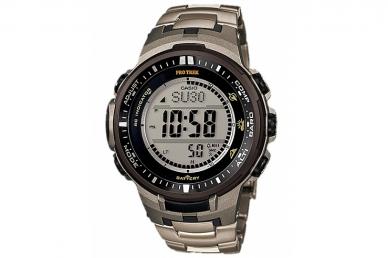 Часы мужские Casio PRO TREK PRW-3000T-7E с браслетом из титанового сплава