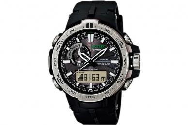 Часы Casio PRO TREK PRW-6000-1E в корпусе из пластика с аналого-цифровым дисплее