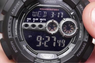 Часы Casio G-Shock GD-100-1В противоударные
