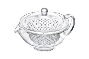 Чайник заварочный ударопрочный 0.28 л (серебряный) Akebono, Япония