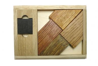 Деревянная головоломка Черный квадрат - 2 элит