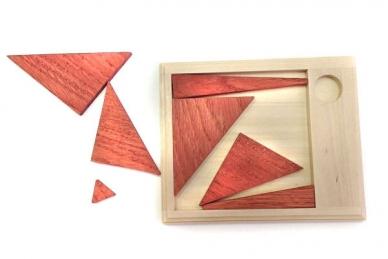 Головоломка из дерева Бермудский треугольник