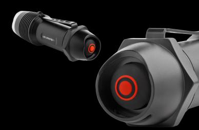 Фонарь светодиодный F1 LED Lenser, кнопка управления.