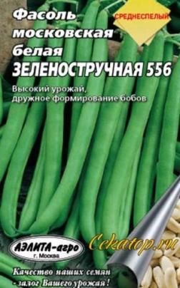 """Семена фасоли """"Московская белая"""""""