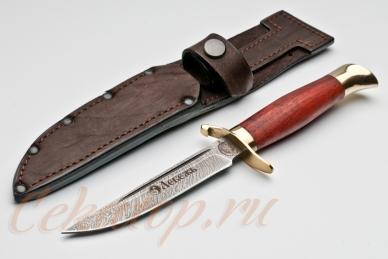 Нож и ножны Финка НКВД СССР (дамасская сталь) Лебежь