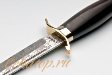 Финка НКВД СССР (сталь Х12МФ) Лебежь, логотип