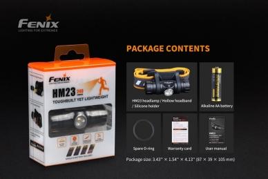 Комплект фонаря HM23 (240 люмен) Fenix