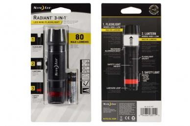 Фонарь светодиодный Radiant 3-in-1 LED mini (черный) Nite Ize