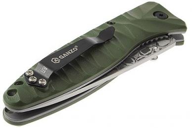 Нож Ganzo G620 (зеленый, травление)