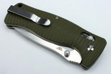 Нож складной G720 (зеленый) Ganzo, клипса