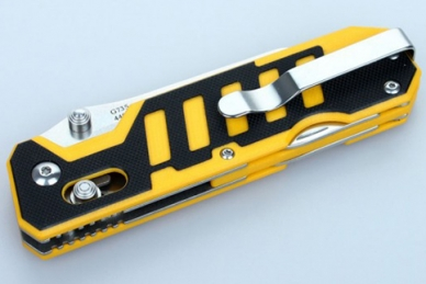 Нож складной Ganzo G735 (черно-желтый)