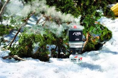 Туристическая газовая горелка Alpine Pot Wide KB-0703W Kovea