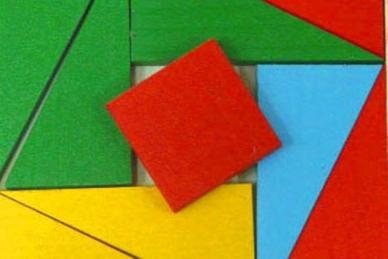 Головоломка из дерева Четыре цвета