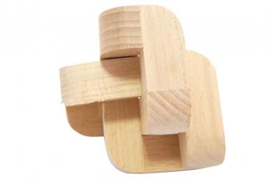 Головоломка Загогулина узел из 3-х элементов