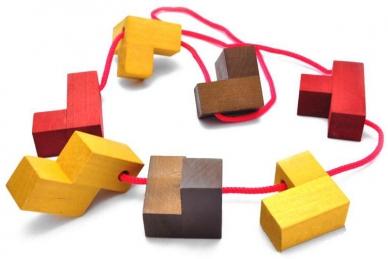 Головоломка в разобраном виде - Кубик для путешественников