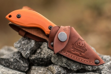 Нож Hammy (AUS-8, Orange G-10) Kizlyar Supreme в ножнах