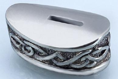 Больстер для рукояти ножа «Зигзаги» 634 (мельхиор)