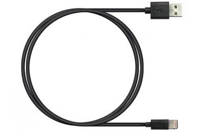 Кабель USB Lightning, 1 м черный