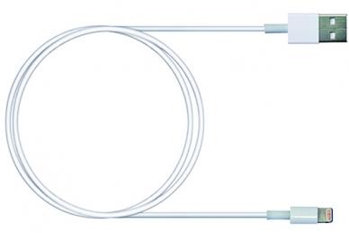 Кабель USB Lightning, 1 м белый