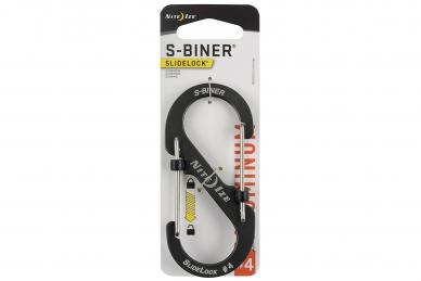 Алюминиевый двусторонний карабин S-Biner SlideLock #4 (charcoal) Nite Ize