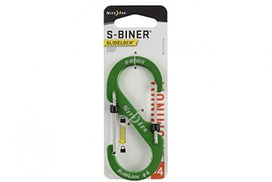 Алюминиевый двусторонний карабин S-Biner SlideLock #4 (green) Nite Ize