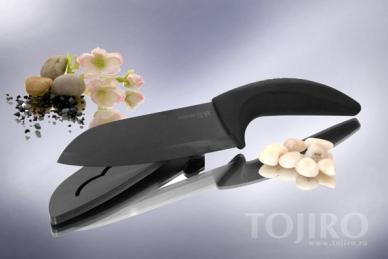 Универсальный керамический нож Hatamoto HM150B-A из черной керамики
