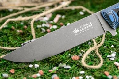 Клинок ножа Yeti (PGK, TacWash) Kizlyar Supreme