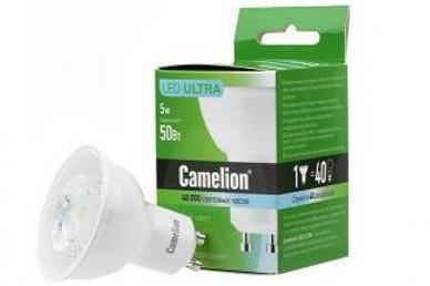 LED5-GU10/845/GU10 5Вт 4500K BL1, Camelion